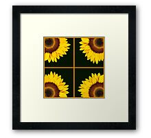 Sunflower Squares Framed Print
