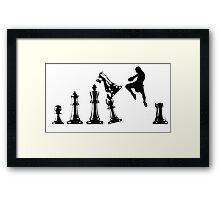 Kickboxing Chess Jumping Knee Framed Print