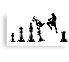 Kickboxing Chess Jumping Knee Canvas Print
