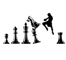 Kickboxing Chess Jumping Knee Photographic Print