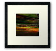 Fast Stripes Framed Print