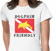 Dolphin Friendly SCUBA  Flag Womens Fitted T-Shirt