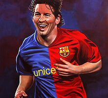 Lionel Messi painting by PaulMeijering