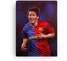 Lionel Messi painting Canvas Print