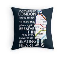 London Underground Map Sherlock Throw Pillow
