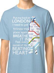 London Underground Map Sherlock Classic T-Shirt