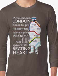 London Underground Map Sherlock Long Sleeve T-Shirt