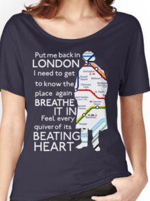London Underground Map Sherlock Women's Relaxed Fit T-Shirt