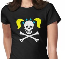Skull Pigtails Womens Fitted T-Shirt