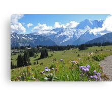 Mt. Rainier Asters Canvas Print