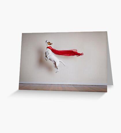 Super Dog Greeting Card