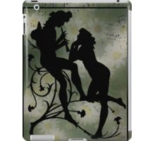 Daisies, Silhouette and Music Scraps  iPad Case/Skin