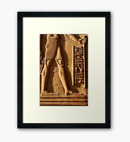 Relief Carving and Cartouche in Kom Ombo Temple Framed Print