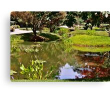 Reflections in the Garden Canvas Print