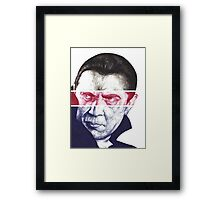 Dracula, A a ballpoint portrait.  Framed Print
