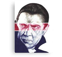 Dracula, A a ballpoint portrait.  Canvas Print