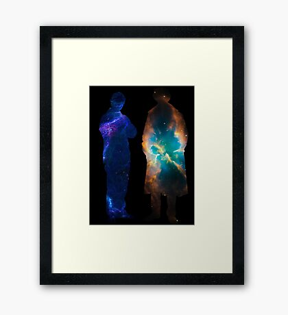 Sherlock Galaxies Framed Print
