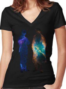 Sherlock Galaxies Women's Fitted V-Neck T-Shirt