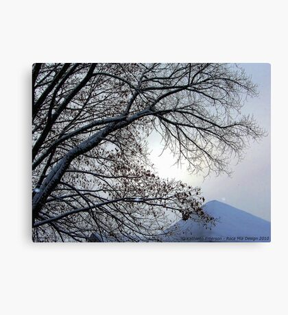 Sunset in a Snowstorm Canvas Print