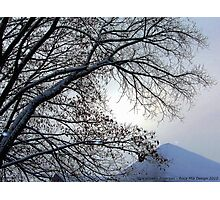 Sunset in a Snowstorm Photographic Print