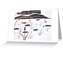 Amidst the reeds Greeting Card