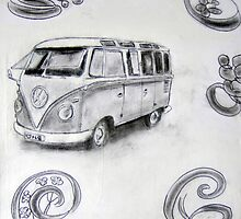 1960s Kombi Split-Window by gillsart