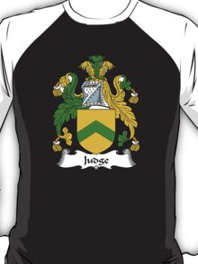 Coat of arms (family crest) for last-name or surname Judge . Heraldry banner for your name. T-Shirt