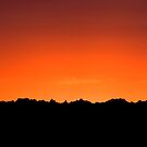 Badland Sunset by Christina Apelseth