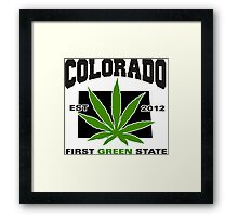 Colorado Marijuana Cannabis Weed T-Shirt Framed Print