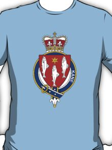 Coat of arms (family crest) for last-name or surname Kane or Cain (Ireland) . Heraldry banner for your name. T-Shirt