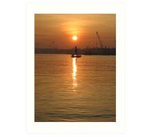 Sunrise at Ancol Marina - Jakarta Art Print
