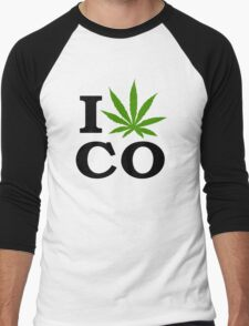 I Marijuana Colorado Men's Baseball ¾ T-Shirt