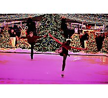 Skating around the Christmas tree Photographic Print