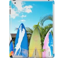 Cool Surfboard Fence iPad Case/Skin