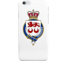Coat of arms (family crest) for last-name or surname Kavanagh or Cavanaugh (Ireland) . Heraldry banner for your name. iPhone Case/Skin