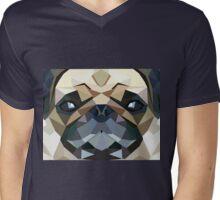PUG LUV Mens V-Neck T-Shirt