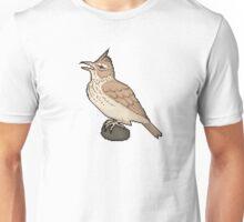Pixel / 8-bit Crested Lark Unisex T-Shirt