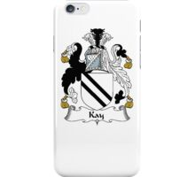 Coat of arms (family crest) for last-name or surname Kay . Heraldry banner for your name. iPhone Case/Skin