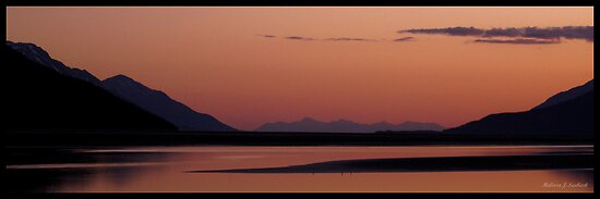 Calm Over The Sound - Alaska by Melissa Seaback