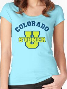 Colorado Cannabis Women's Fitted Scoop T-Shirt