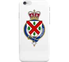Coat of arms (family crest) for last-name or surname Keating (Ireland) . Heraldry banner for your name. iPhone Case/Skin
