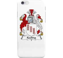 Coat of arms (family crest) for last-name or surname Keeling . Heraldry banner for your name. iPhone Case/Skin