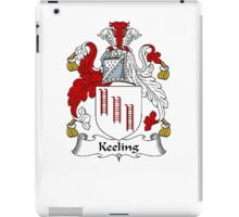 Coat of arms (family crest) for last-name or surname Keeling . Heraldry banner for your name. iPad Case/Skin