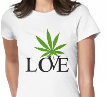 Love Marijuana Cannabis Womens Fitted T-Shirt