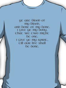 OUTLANDER Quote Blood of my Blood Outlander Jamie Fraser The Wedding T-Shirt