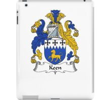Coat of arms (family crest) for last-name or surname Keen . Heraldry banner for your name. iPad Case/Skin