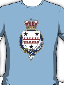 Coat of arms (family crest) for last-name or surname Keenan (Ireland) . Heraldry banner for your name. T-Shirt