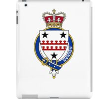 Coat of arms (family crest) for last-name or surname Keenan (Ireland) . Heraldry banner for your name. iPad Case/Skin