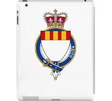 Coat of arms (family crest) for last-name or surname Keith (Scotland) . Heraldry banner for your name. iPad Case/Skin