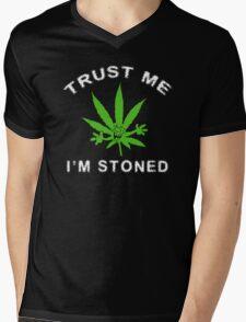 Very Funny Stoned Marijuana Mens V-Neck T-Shirt